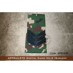 APPAULETE Digital Camo No.5 (SARJEN) - app026