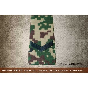 APPAULETE Digital Camo No.5 (LANS KOPERAL) - app028