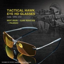 TACTICAL HAWK EYE HD GLASSES - SPEC233