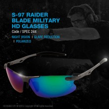 S-97 RAIDER BLADE MILITARY HD GLASSES - SPEC244