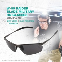 W-99 RAIDER BLADE MILITARY HD GLASSES - SPEC266