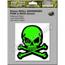 Sticker SKULL CROSSBONES PUNK & ROCK - STICKER9600