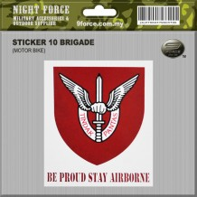 Sticker Windscreen - 10 Brigade - STICKER-3021C