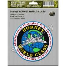 Sticker waterproof - HORNET WORLD CLASS - sticker3029
