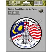 Sticker waterproof - ROYAL MALAYSIA AIR FORCE - sticker3030