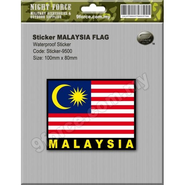 Sticker malaysia flag sticker9500