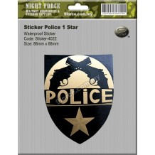 Sticker Police 1 Star