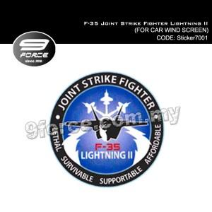 Sticker Car Wind Screen F-35 Joint Strike Fighter Lightning II - Sticker7001