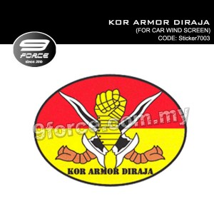 Sticker Car Wind Screen KOR ARMOR DIRAJA - Sticker7003