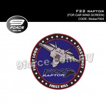 Sticker Windscreen - F22 Raptor - STICKER-7004C