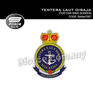 Sticker Car Wind Screen TENTERA LAUT DIRAJA - Sticker7007