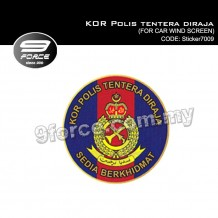 Sticker Car Wind Screen KOR Polis tentera diraja - Sticker7009