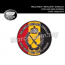 Sticker Car Wind Screen Rejimen Renjer Diraja - Sticker7010