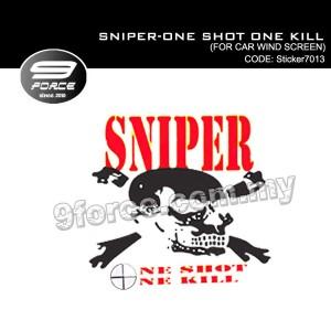 Sticker Car Wind Screen SNIPER ONE SHOT ONE KILL - Sticker7013