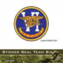 Sticker Seal Team Six - force001