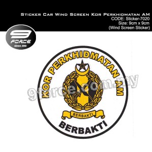 Sticker Car Wind Screen KOR PERKHIDMATAN AM - Sticker7020