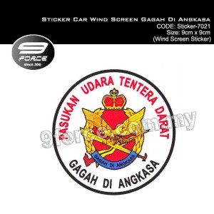 Sticker Car Wind Screen Gagah Di Angkasa - Sticker7021