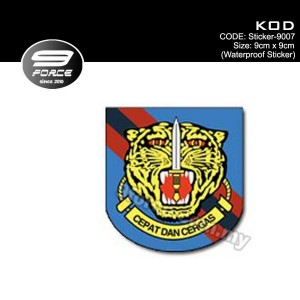 Sticker Waterproof KOD - Sticker9007