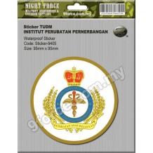 Sticker TUDM (INSTITUT PERUBATAN PERNERBANGAN)