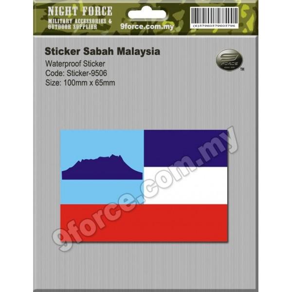 Sticker Sabah Malaysia sticker9506
