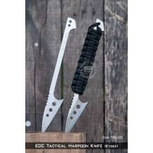 EDC Tactical Harpoon Knife, Paracord Modifiable, Kydex Sheath  (TOOL103)