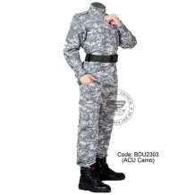 ACU Camouflage - Military BDU (Battle Dress Uniform) Shirt + Pants, Polyester / Cotton Twill, Customize order, 2 weeks delivery (BDU2303)