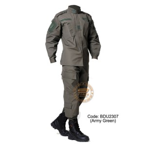 Army Green - Military BDU (Battle Dress Uniform) Shirt + Pants, Polyester / Cotton Twill, Customize order, 2 weeks delivery (BDU2307)