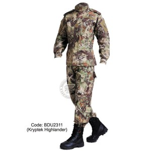 KRYPTEK HIGHLANDER - Military BDU (Battle Dress Uniform) Shirt + Pants, Polyester / Cotton Twill, Customize order, 2 weeks delivery (BDU2311)
