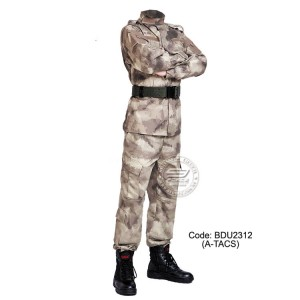 A-TACS - Military BDU (Battle Dress Uniform) Shirt + Pants, Polyester / Cotton Twill, Customize order, 2 weeks delivery (BDU2312)
