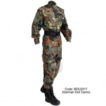 Germany Dot Camo - Military BDU (Battle Dress Uniform) Shirt + Pants, Polyester / Cotton Twill, Customize order, 2 weeks delivery (BDU2317)