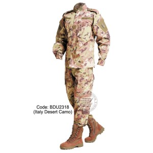 Italy Desert Camo - Military BDU (Battle Dress Uniform) Shirt + Pants, Polyester / Cotton Twill, Customize order, 2 weeks delivery (BDU2318)