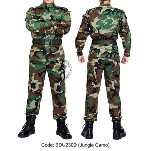 Woodland Camouflage - Military BDU (Battle Dress Uniform) Shirt + Pants, Polyester / Cotton Twill, Customize order, 2 weeks delivery (BDU2319)