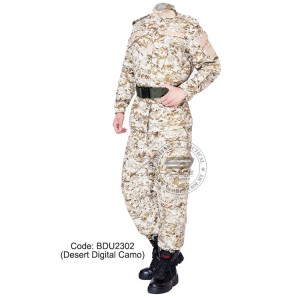 Desert Digital Camouflage - Military BDU (Battle Dress Uniform) Shirt + Pants, Polyester / Cotton Twill, Customize order, 2 weeks delivery (BDU2302)