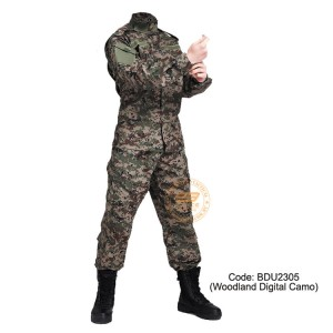 Woodland Digital Camouflage - Military BDU (Battle Dress Uniform) Shirt + Pants, Polyester / Cotton Twill, Customize order, 2 weeks delivery (BDU2305)