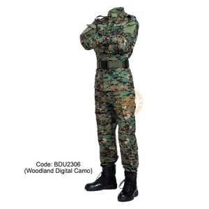 Woodland Digital Camouflage - Military BDU (Battle Dress Uniform) Shirt + Pants, Polyester / Cotton Twill, Customize order, 2 weeks delivery (BDU2306)
