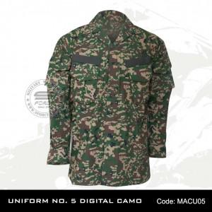 UNIFORM NO. 5 DIGITAL CAMO(NO. Badan Diperlukan, ONLY ARMY)