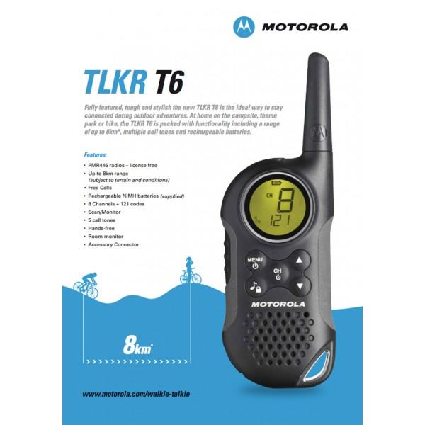 Motorola TLKR T6 Twin Walkie Talkie