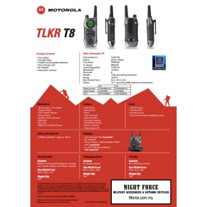 Motorola TLKR T8 Twin Walkie Talkie (Water proof)