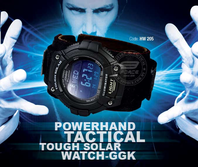 POWERHAND TACTICAL TOUGH SOLAR WATCH GGK