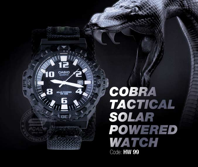 COBRA TACTICAL SOLAR POWERED WATCH