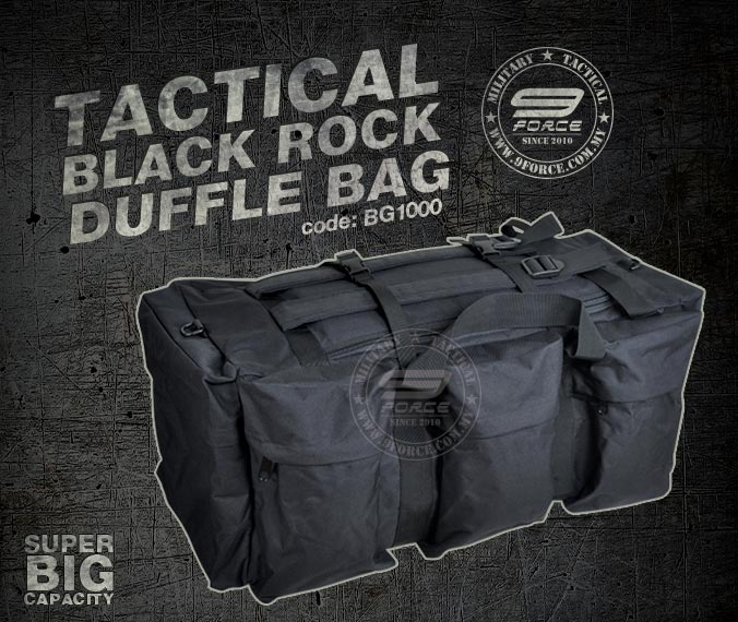 Tactical Black Rock Duffle Bag