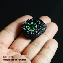 Multiple Clip On Compass, Suitable for Jacket, Watch, Bags, Pouch, etc. CP550