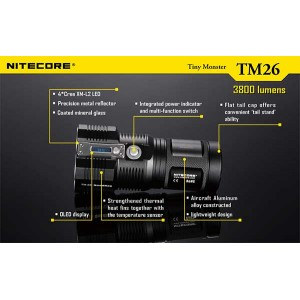 NITECORE TM26 FLASHLIGHT (4000 Lumens, Lastest Version)