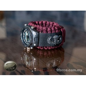 Hand Watch combat + Military Paracord Watch Band (Airborne) - HW190 Maroon