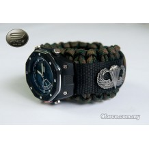 Hand Watch combat + Military Paracord Watch Band (Airborne) - HW190 Camo