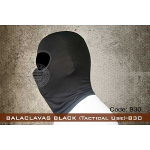 BALACLAVAS BLACK (Tactical Use)-B30