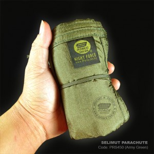 SELIMUT PARACHUTE, BLANKET PARACHUTE, ARMY GREEN, LIGHT WEIGHT AND STRONG. PRS450