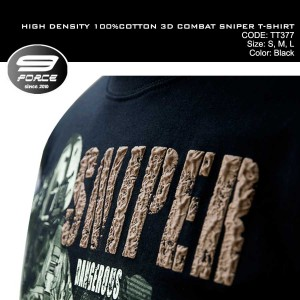 HIGH DENSITY 100%COTTON 3D COMBAT SNIPER T-SHIRT - TT377
