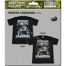 Tshirt MISSION COMMANDO 3D (100% cotton)
