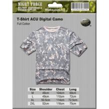 MIL-SPEC ACU Digital Camo Tshirt (Full Cotton)
